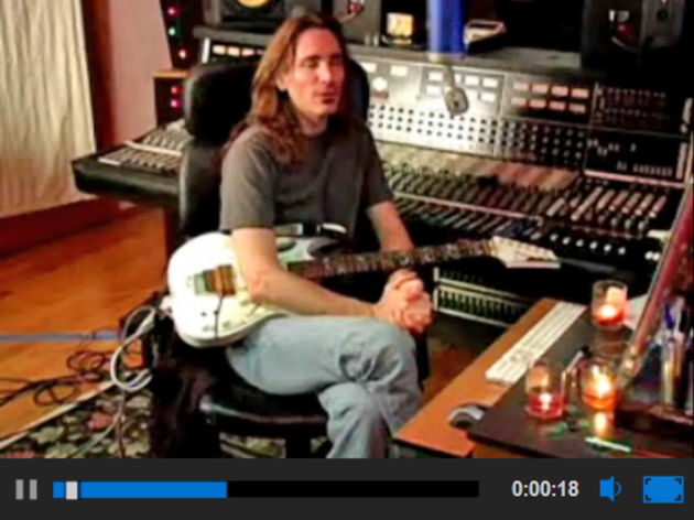 Steve Vai at the Mothership preparing for launch