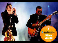 Michael Jackson's guitarist: how to play funk guitar video lesson