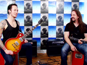 Dream Theater's John Petrucci and Trivium's Matt Heafy on right hand technique