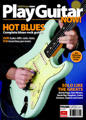 Play guitar now! hot blues
