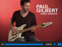 Paul Gilbert video guitar lessons