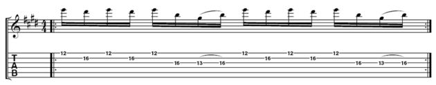 Take a close look at Paul's pick hand when he executes the semitone part of this lick; you'll notice that his hand doesn't move that much.