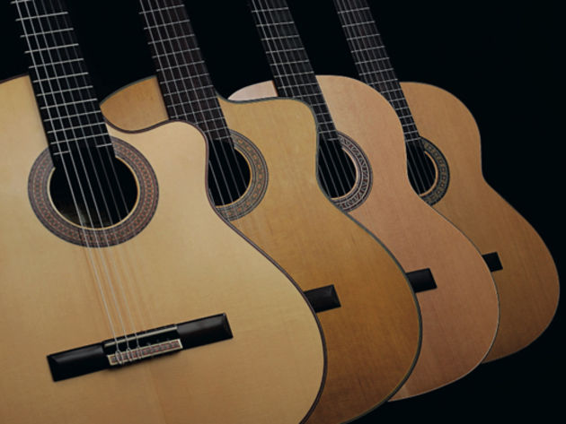 4 nylon-string electro acoustic guitars
