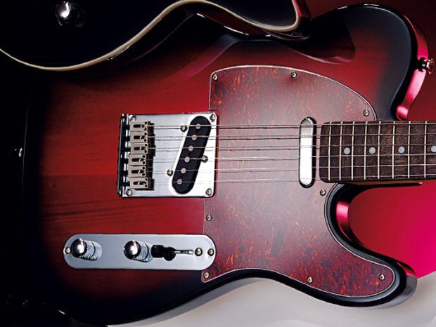 22 cool electric guitars under 300 vintage vrs100 239 guitar tuition musicradar. Black Bedroom Furniture Sets. Home Design Ideas