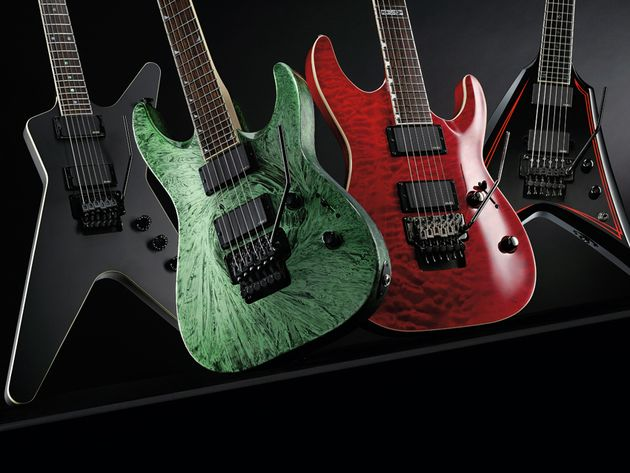 4 Floyd Rose-equiped electric guitars