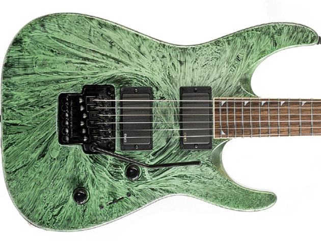 Jackson DKMG Green Swirl build and features