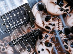Round-up: 4 graphic finish metal electric guitars