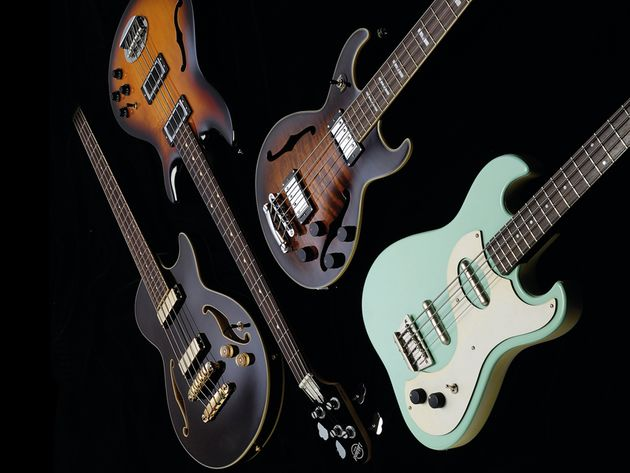 4 retro bass guitars (£279-£1549)