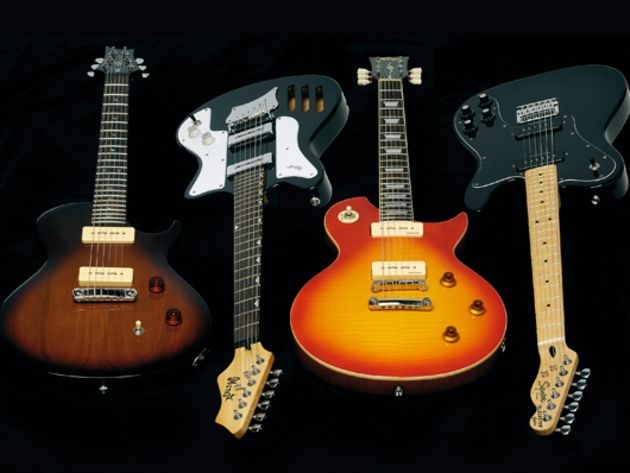 4 soapbar-loaded electric guitars with P-90-style pickups (£279-£535)
