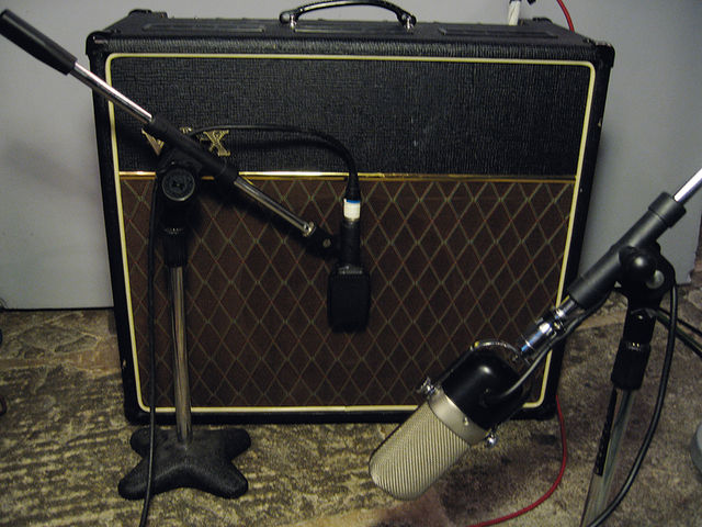 Setting up a ribbon mic away from your amp can deliver a slightly different sound.