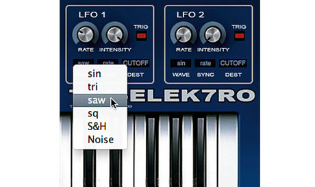 LFO wave form parameters