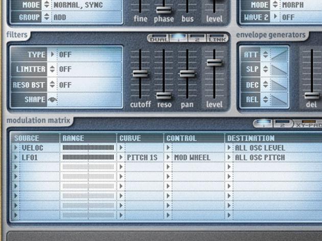 LFO modulation