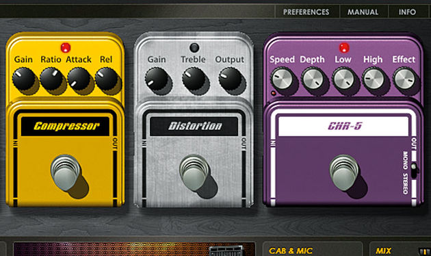 Compressor and chorus effects