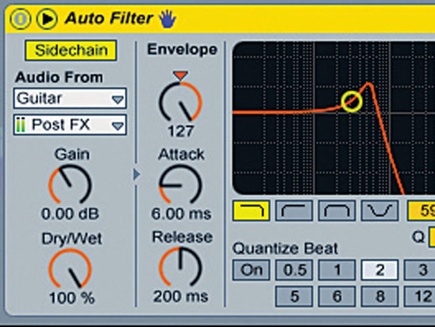 Ableton Live's Auto Filter has a sidechain option.