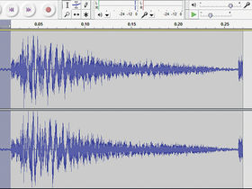 How to cut a drum hit out of a loop in Audacity