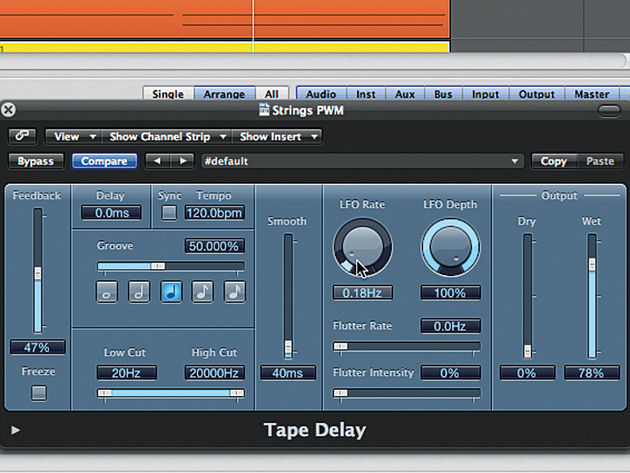 Trick your delay plug-in into thinking its a flanger effect with these specific settings. Whoosh!