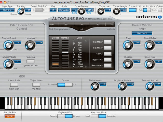 Antares Auto-Tune Evo isn't just for T-Pain vocal effects.