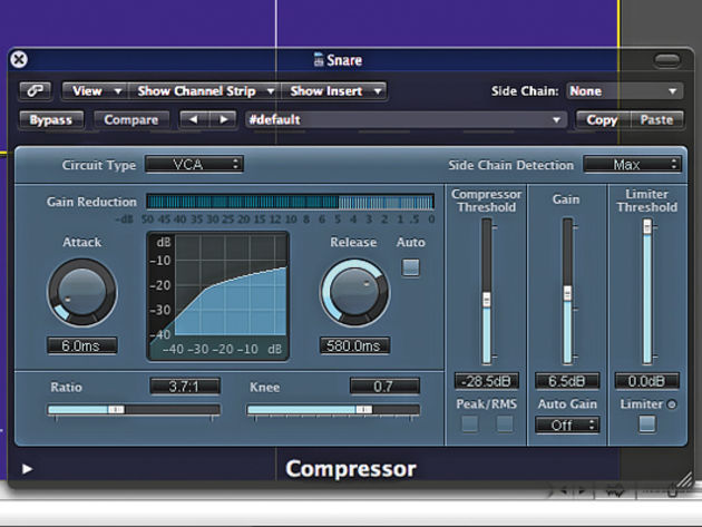 Compressing the snare