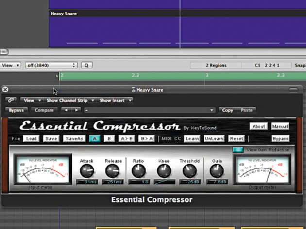 Compressing the heavy snare