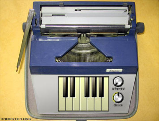 5 instruments and effects including a German typewriter