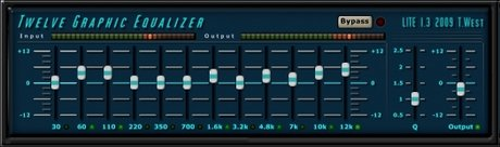 Twelve graphic equalizer