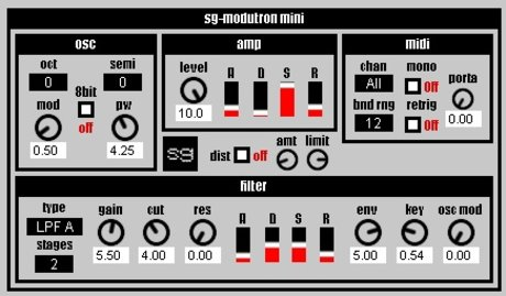 Synthgeek sg-modutron mini