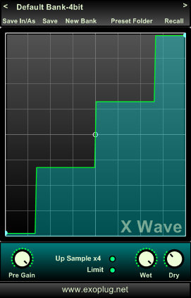 Exoplug.net x wave symmetric waveshaper