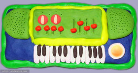 Knobster plastic piano