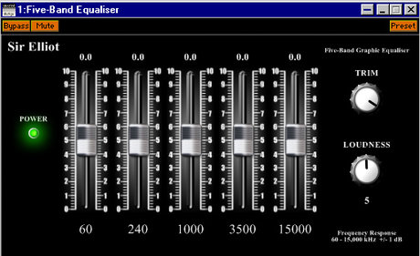Sir elliot five-band graphic equaliser