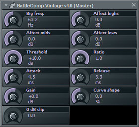 Robot planet battlecomp vintage vst compressor