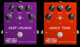 Heptode virtual pedals