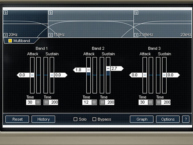 Multiband transient processing