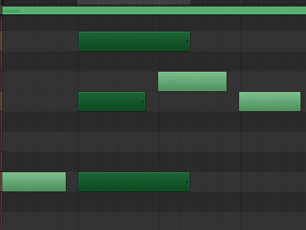 Selecting multiple notes