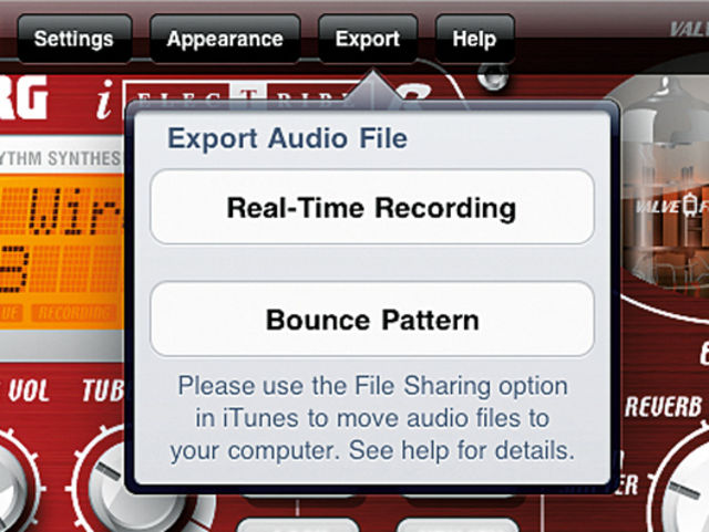 Audio export