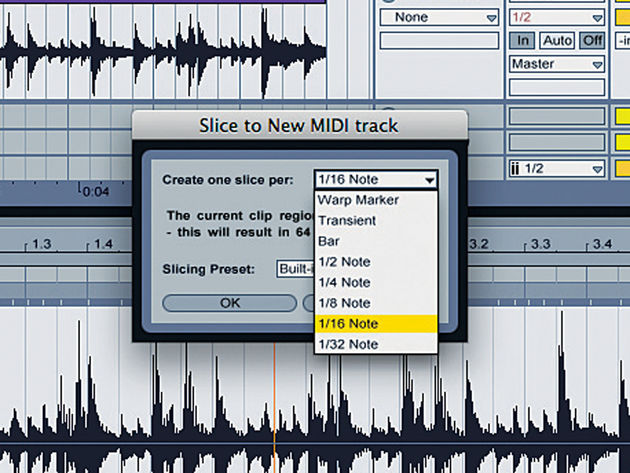 Slicing to MIDI