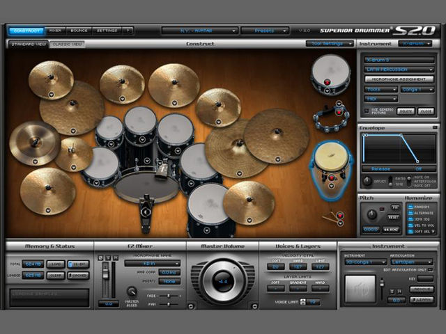 Make use of multiple velocity layers in drum modules like Superior Drummer 2.0 for more lively parts