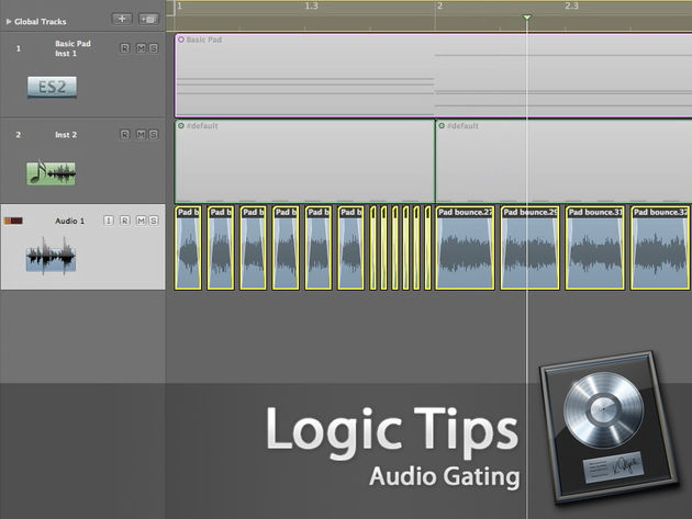 Logic's multiple divide tool can give the same effect as sidechained gating