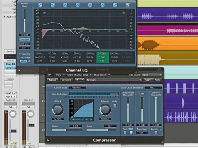 Bass compression and EQ