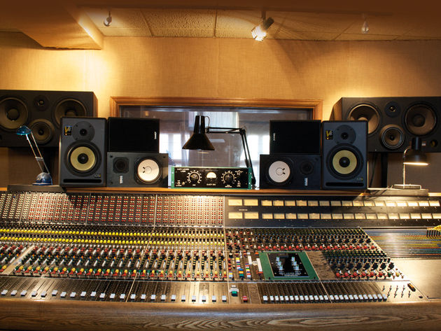 You'll find several pairs of monitors in most studios.