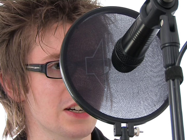 The singer's position in relation to the microphone will affect the sound you record.
