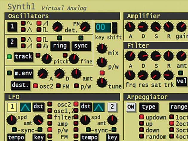 In a subtractive synth, it all starts with the oscillators.