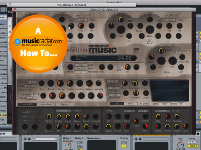 ZebraCM is the synth that sits at the heart of our bass sound.