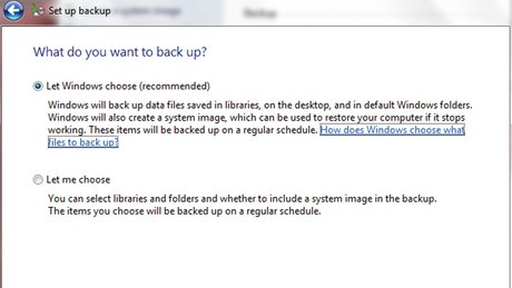 Windows data backup
