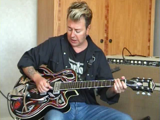 Brian Setzer fingerpicking with open chords
