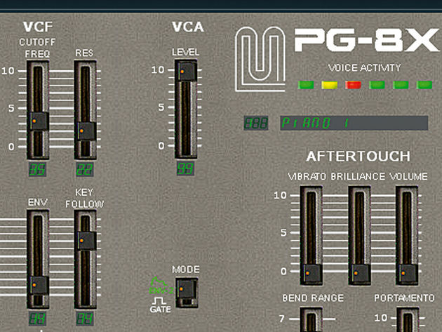 First of all, let's look at recreating some popular 'hollow' bass patches with a virtual analogue synth. We're going to use PG-8X by Martin Lüders, which you can pick up for free at www.bit.ly/IFVcXm. This is an excellent-sounding VSTi. Start from the default patch, Piano 1 - there's no need to initialise it.