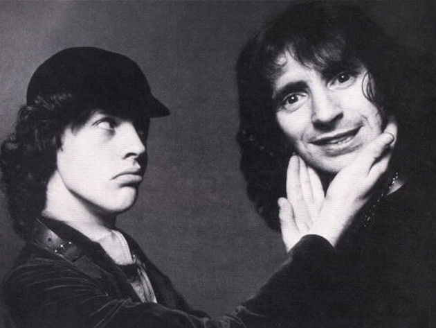 Actors? Nope, it's Angus Young and Bon Scott