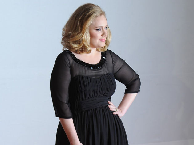 Adele arrives at the Brit Awards 2012.