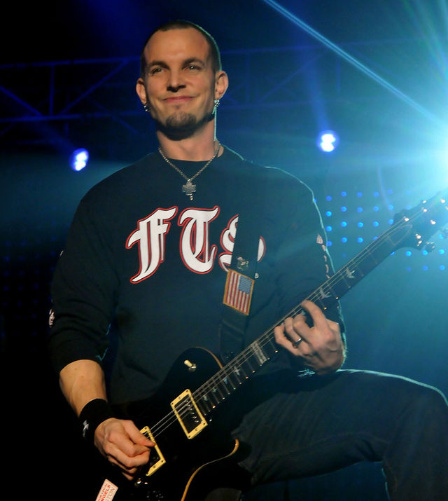 Mark Tremonti onstage at Wembley, November 2011