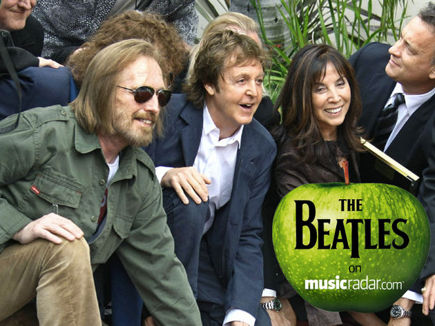 Petty honors George Harrison with Paul McCartney and Olivia Harrison