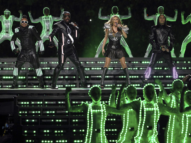Black Eyed Peas lit up this year's Super Bowl.